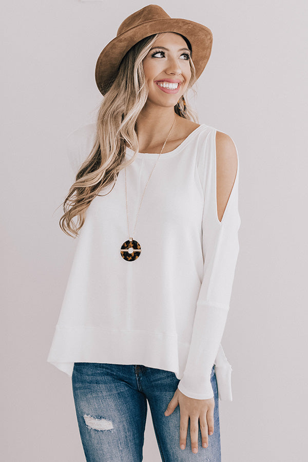 Bubbly And Brunch Shift Top in Ivory
