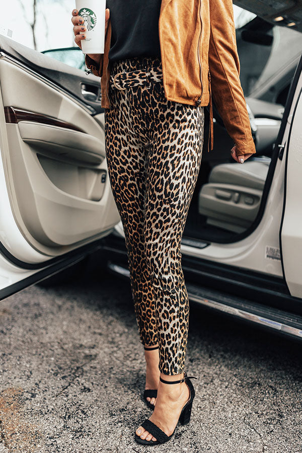 The Lilah High Waist Leopard Skinny