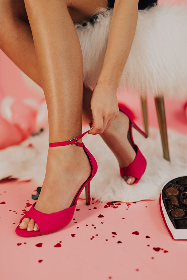 The Quinn Heel in Hot Pink