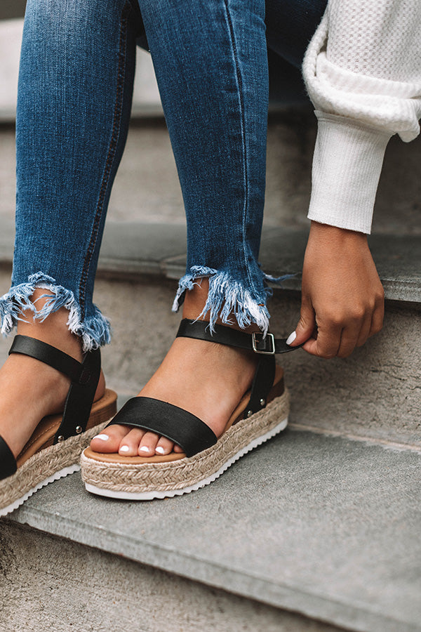The Kaylee Espadrille in Black