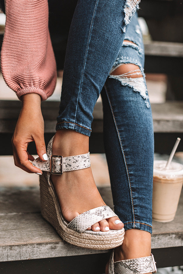 The Kennedy Wedge in Snake Print