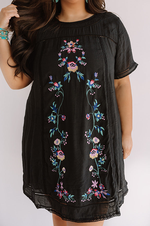 Meet Me In Paradise Shift Dress In Black