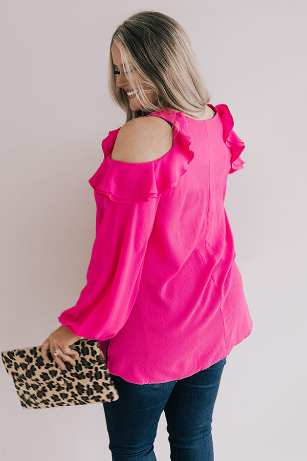 First Class To Paris Shift Top in Hot Pink