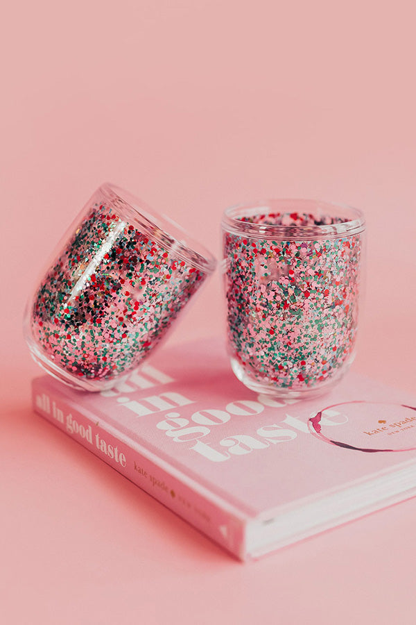 Glitter Bomb Cocktail Tumbler Set