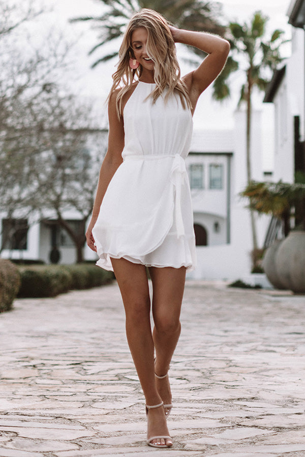Celebrate With Champagne Dress in White