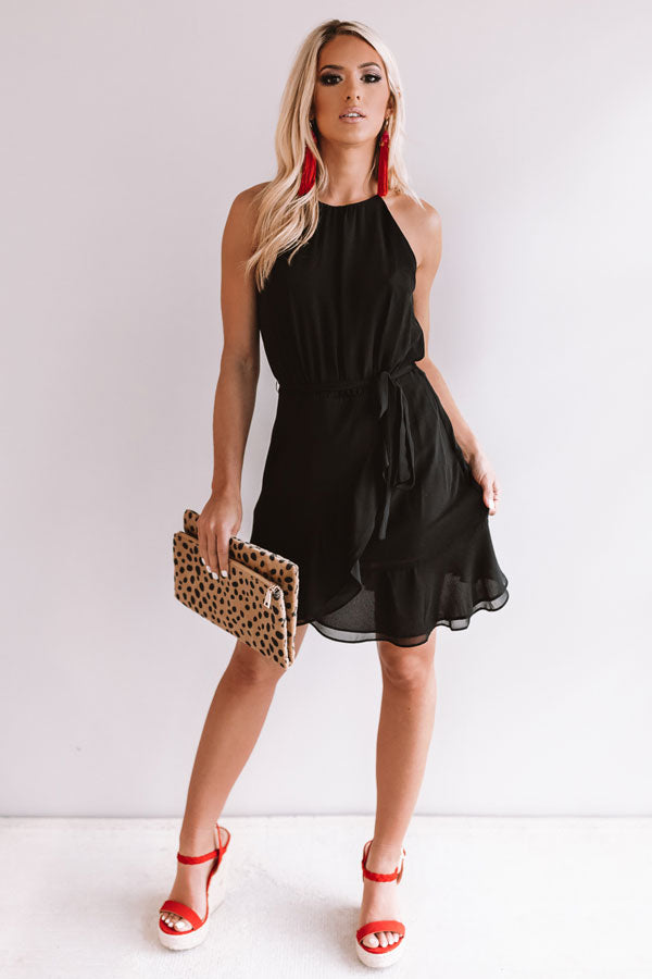 Celebrate With Champagne Dress in Black