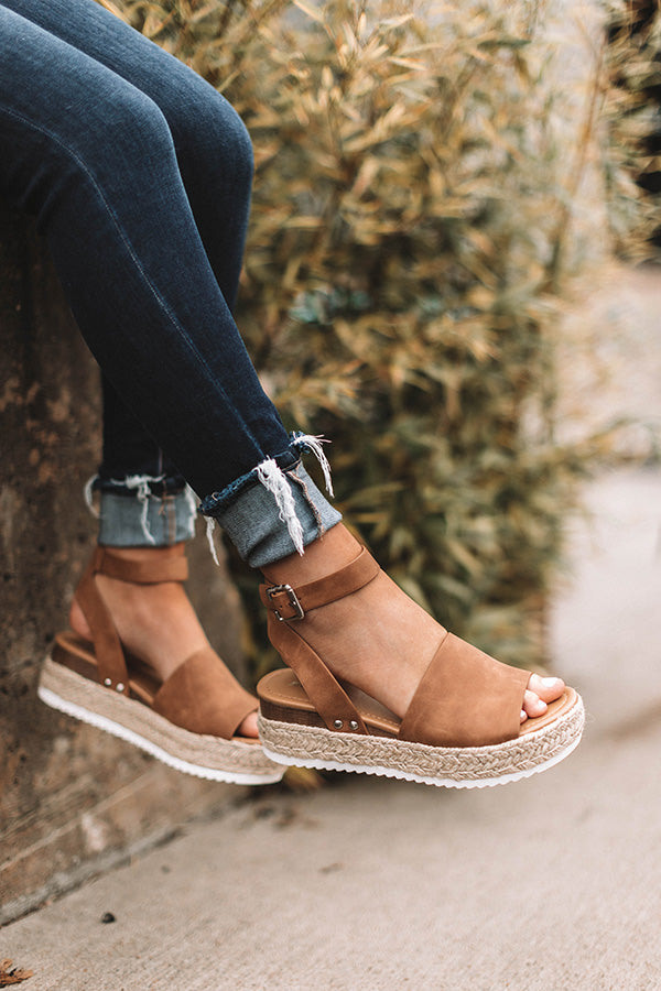 The Brighton Espadrille In Tan