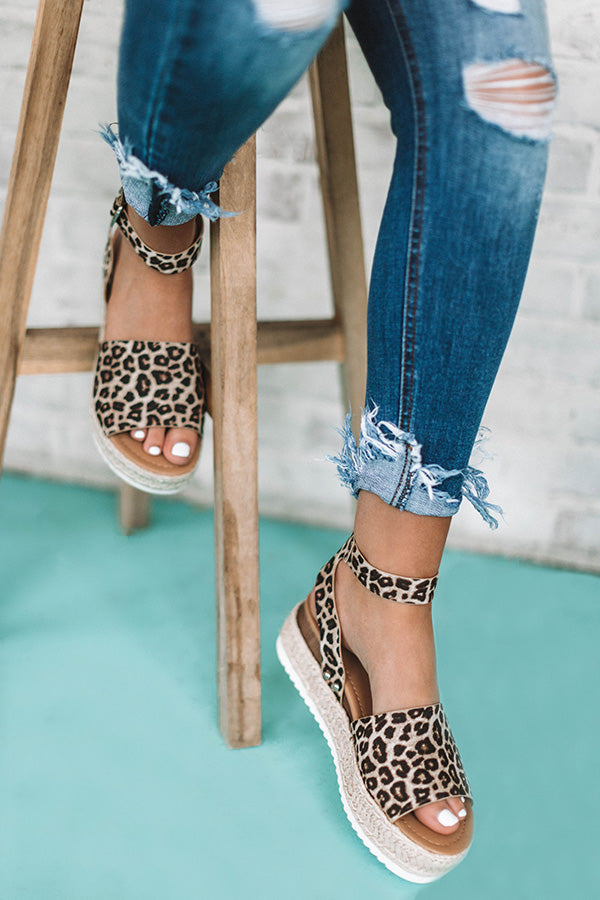 The Brighton Espadrille in Leopard