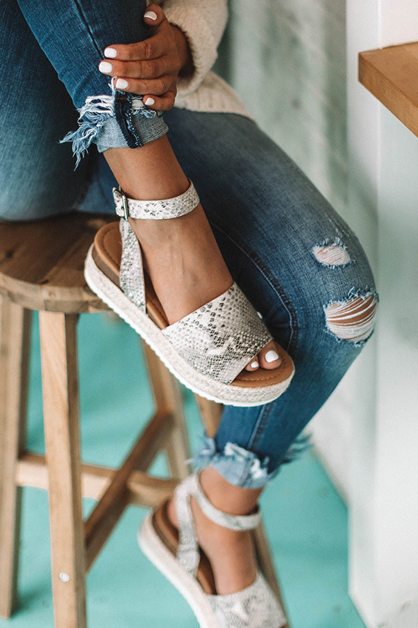 The Brighton Espadrille in Snake Print