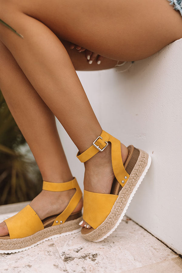 The Brighton Espadrille in Yellow