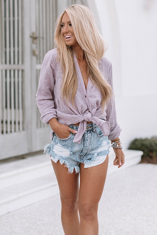 Malibu Mornings Shift Top In Lavender