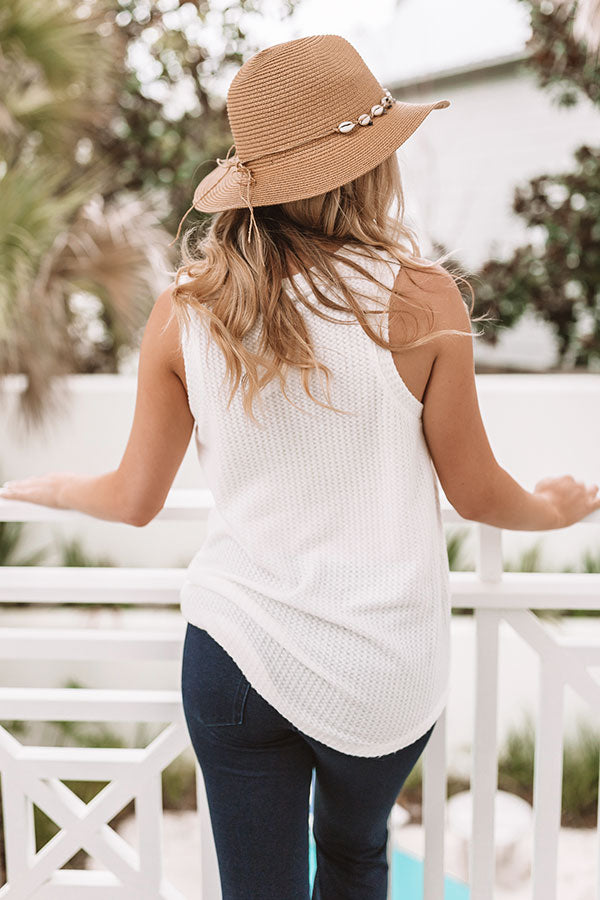 So Much Amore Waffle Knit Top In Ivory