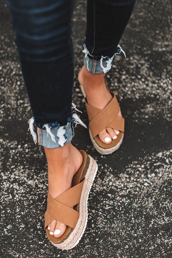 The Emmy Espadrille In Tan