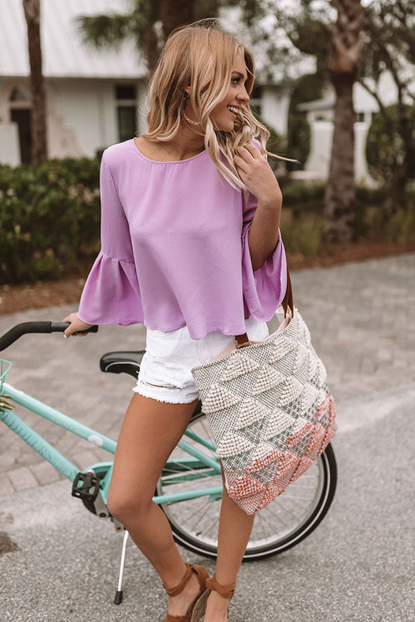 Sips And Swooning Shift Top In Lavender