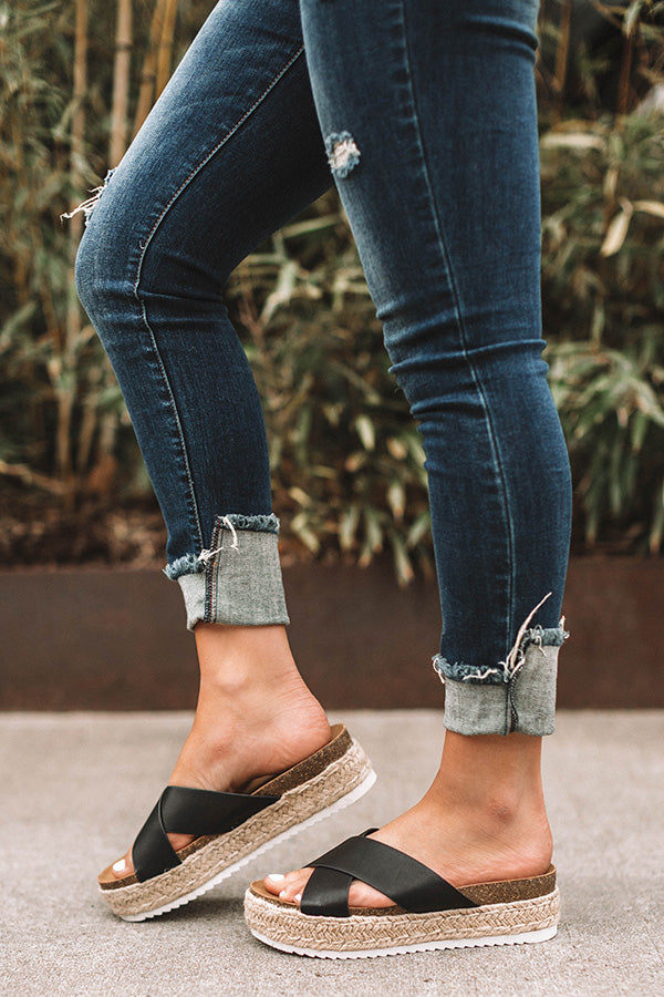 The Emmy Espadrille In Black