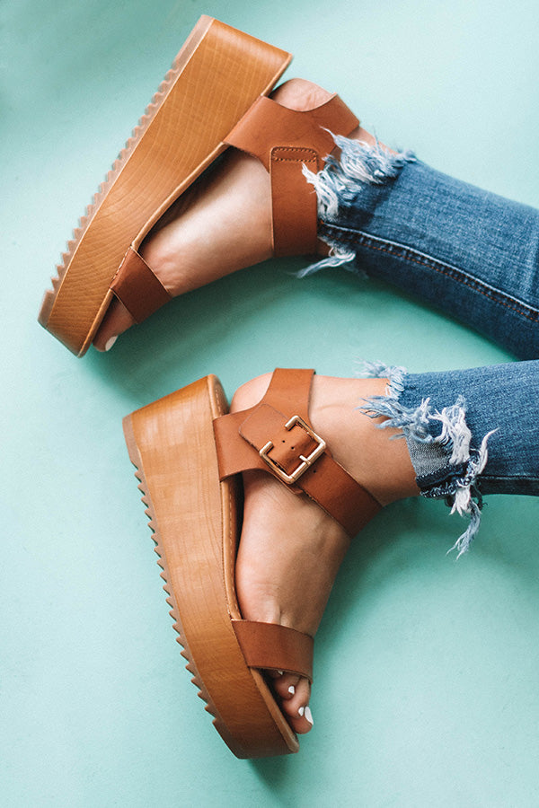 The Raleigh Platform Sandal In Brown