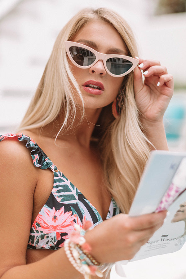 Mimosa Party Cat Eye Sunnies in Blush