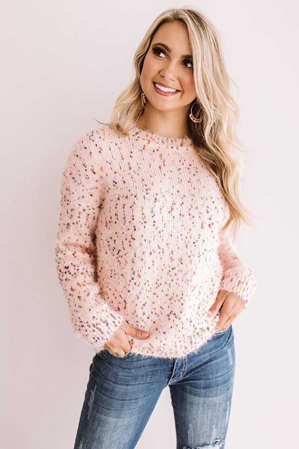 Jetty Punch Knit Sweater In Pink