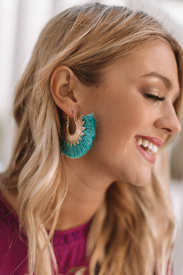 Sunburst Earrings In Turquoise