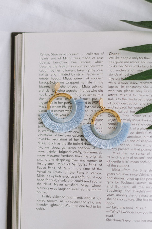 Toasting In Tahiti Earrings In Sky Blue