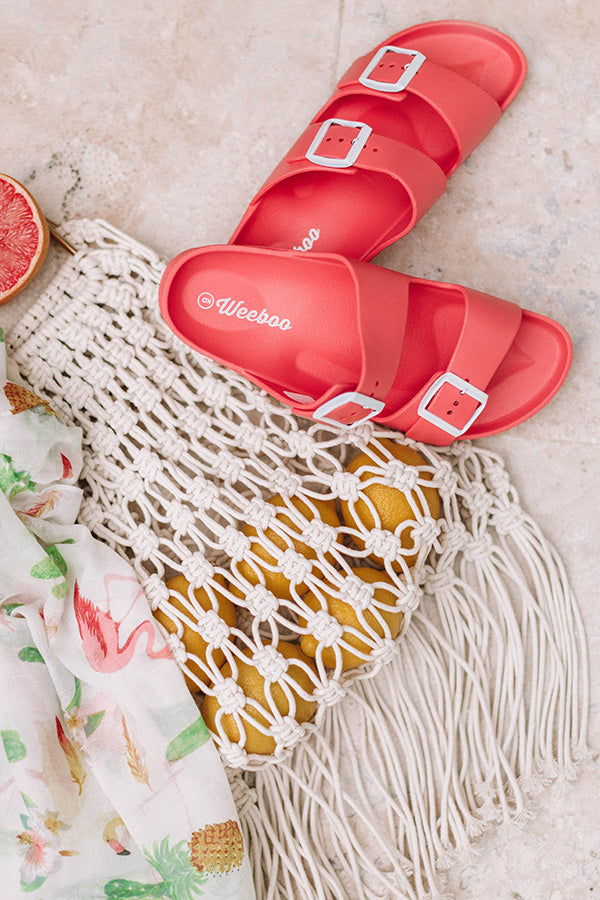 The Lex Sandal in Coral