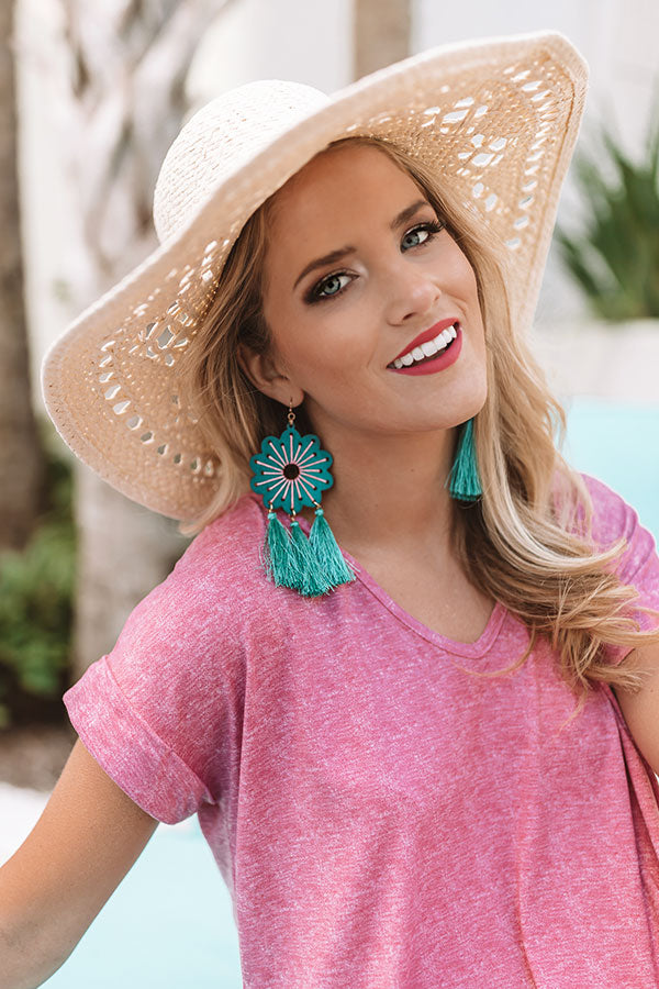 Caribbean Crush Earrings In Turquoise