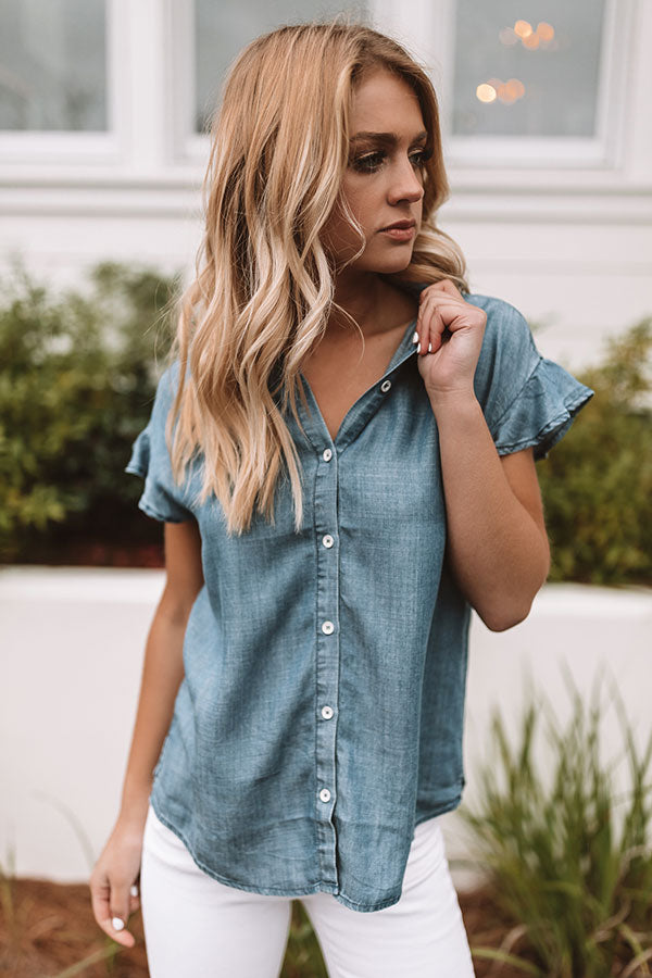 Island Adventure Chambray Top