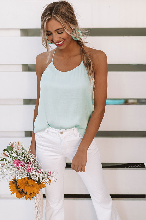 Honolulu Happy Hour Shift Tank In Mint