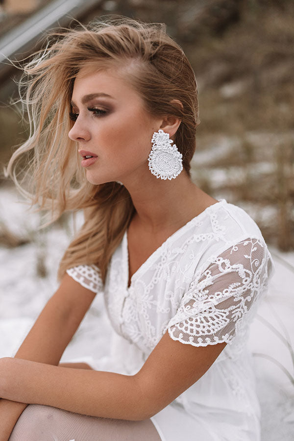 Long Beach Bliss Earrings In White