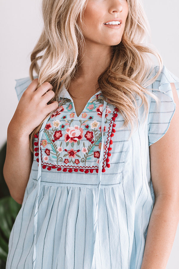 Fond Of Fiestas Embroidered Dress