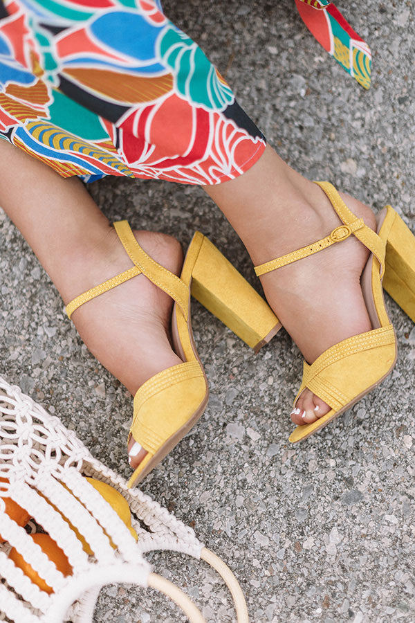 The Channing Heel In Primrose Yellow
