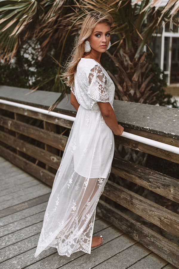Beach and Kisses Lace Maxi Dress