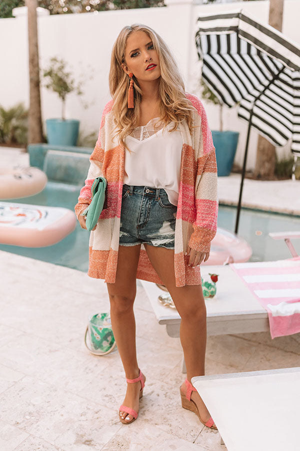 Wrapped In Sweetness Color Block Cardigan