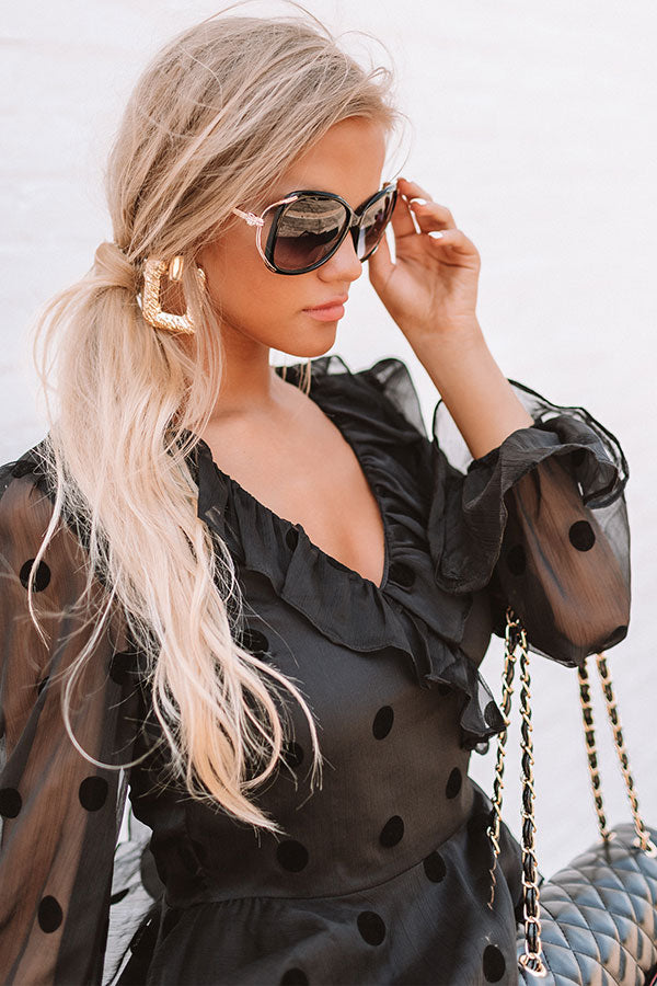 Hey, Bombshell Sunnies In Black