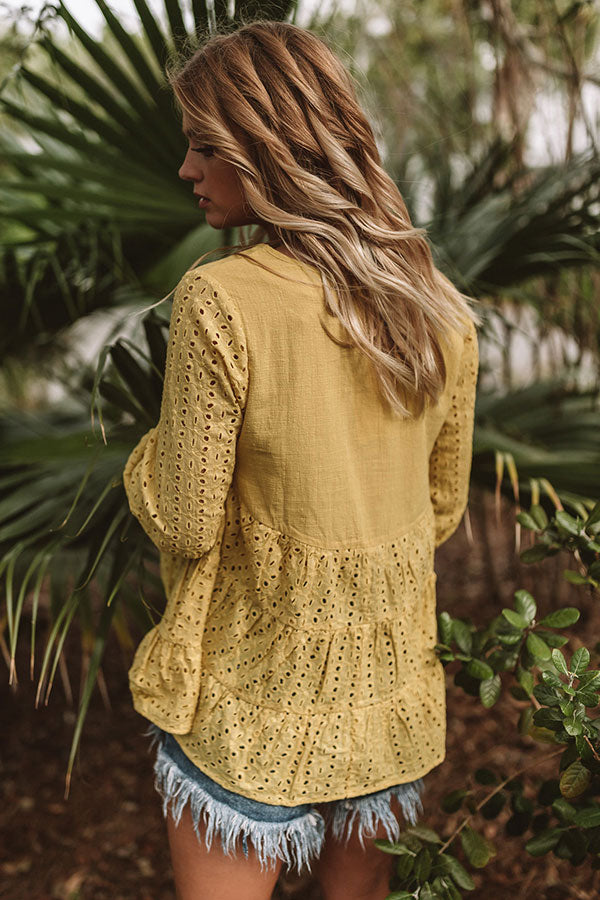 The One And Only Eyelet Top in Yellow
