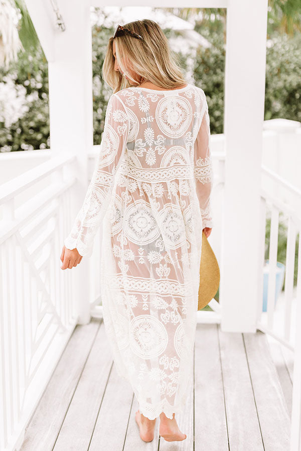 Boho Bliss Lace Maxi in Cream