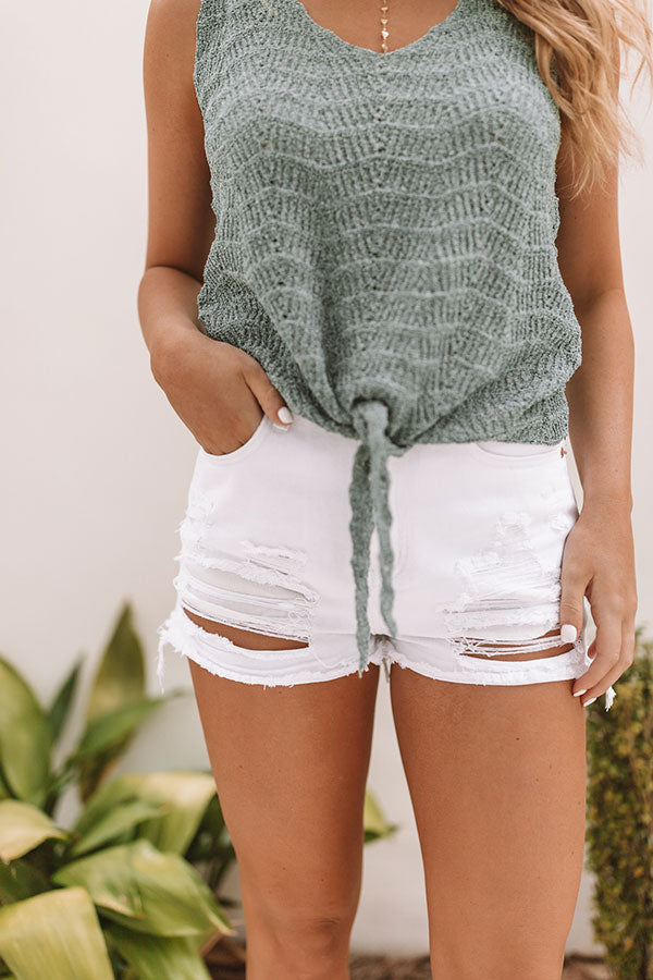 Weekend In Seaside High Waist Distressed Shorts