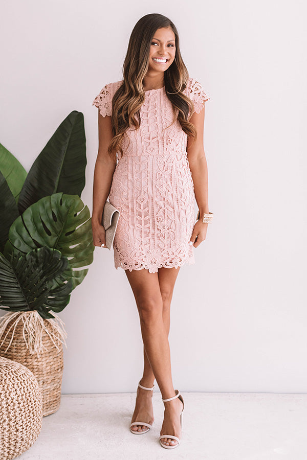 Love In The City Crochet Dress in Pink