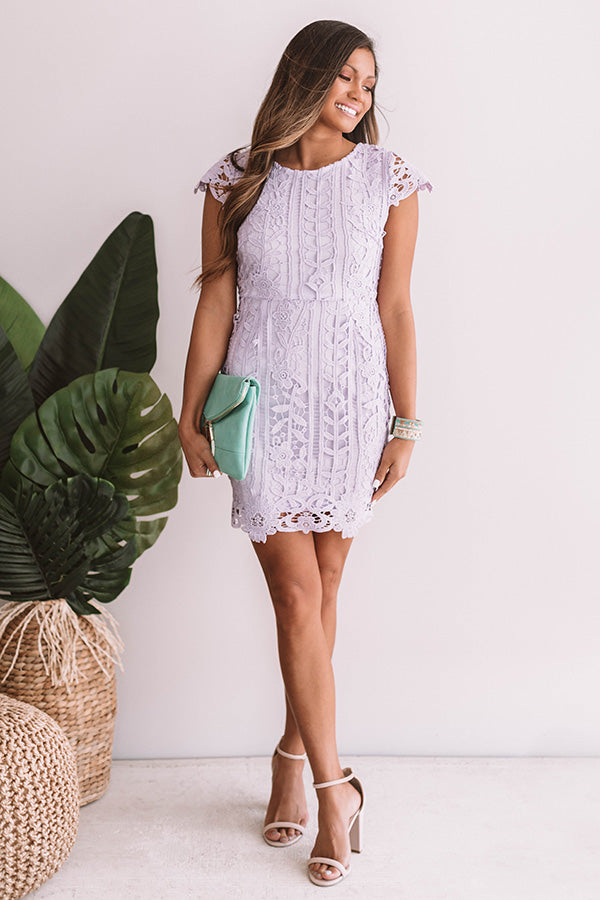 Love In The City Crochet Dress in Lavender