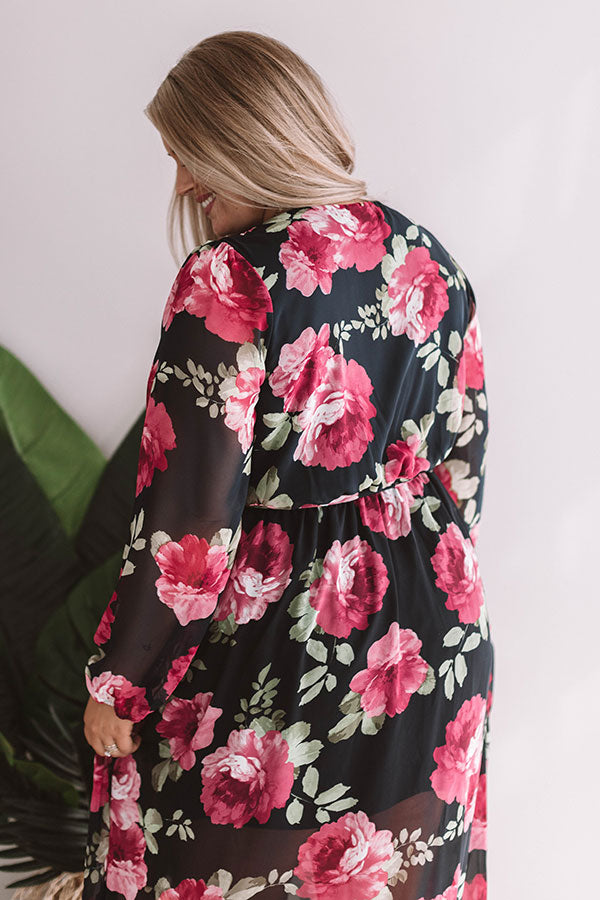 Botanical Babe Chiffon Maxi Dress