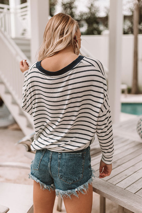 All Cozied Up Stripe Top