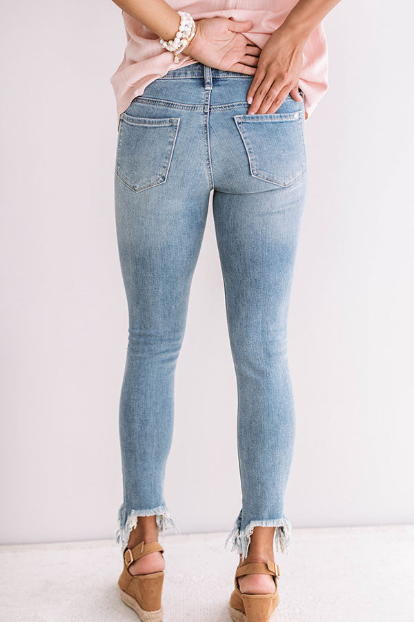 The Dawsyn Midrise Distressed Ankle Skinny