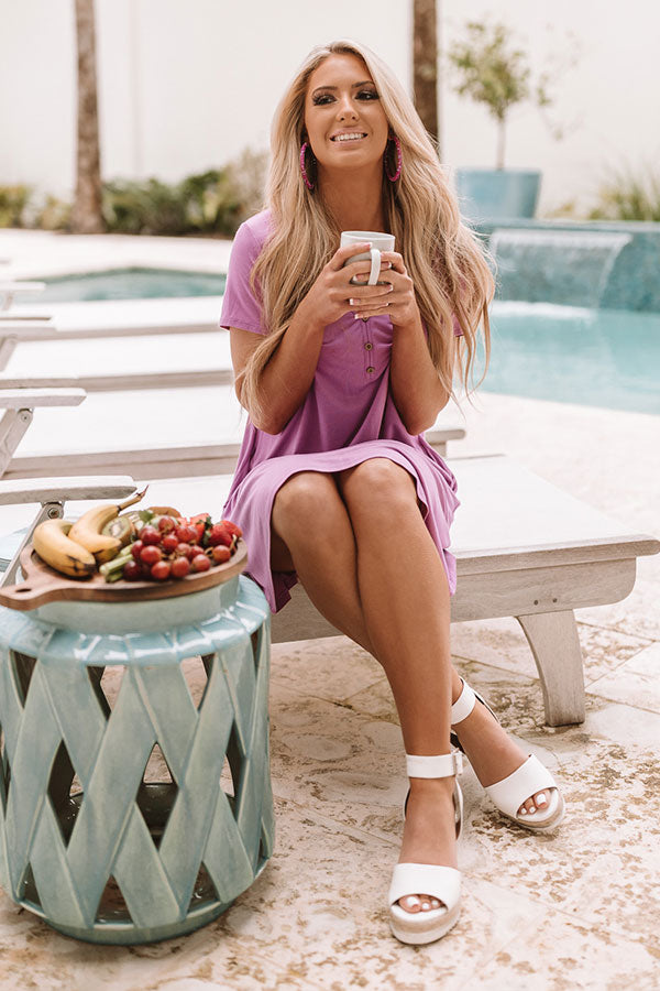 One Way To Oahu Shift Dress in Orchid