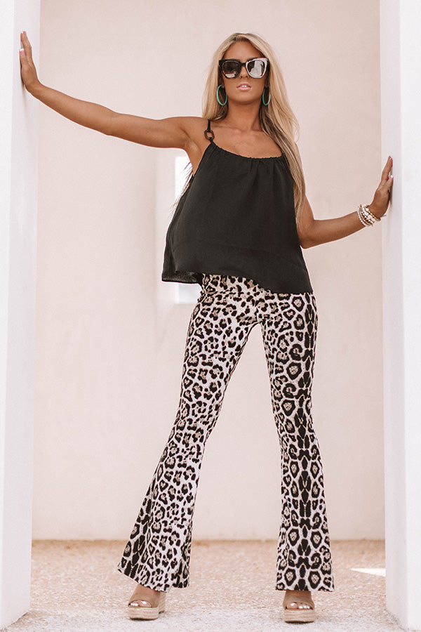 Leopard Love Flare Pants