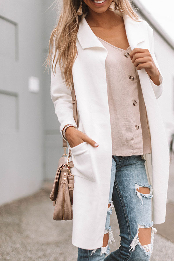 Instant Classic Cardigan in Ivory