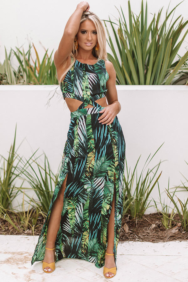 Maui Mindset Cutout Maxi in Green