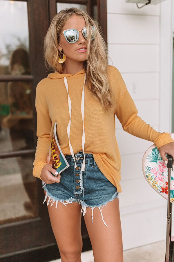 L.A Sunsets Hoodie in Golden Honey