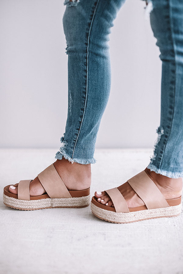 The Lola Espadrille In Iced Latte