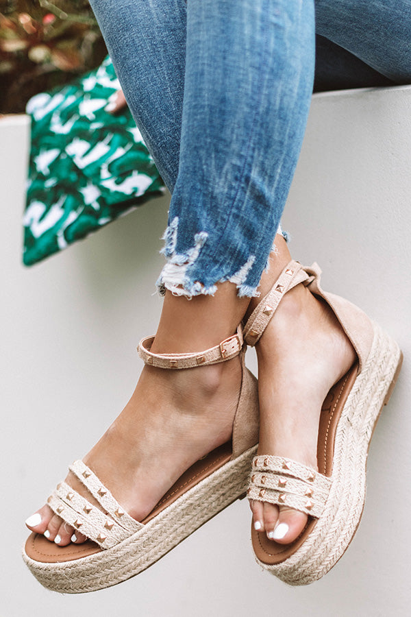 The Tatum Espadrille In Birch