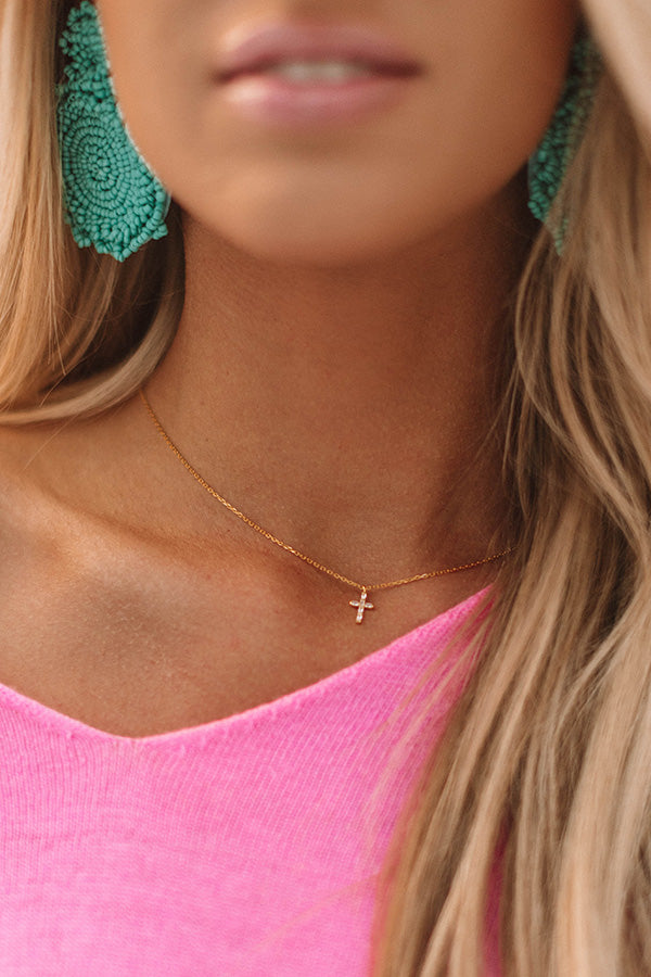 Faithfully Yours Necklace In Gold